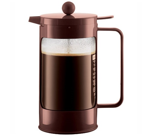 cafeti re piston bodum bean marron 1 l 8 tasses. Black Bedroom Furniture Sets. Home Design Ideas
