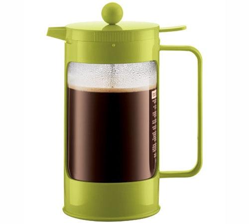 Cafeti re piston bodum bean vert citron 1 l 8 tasses - Cafetiere a piston avis ...