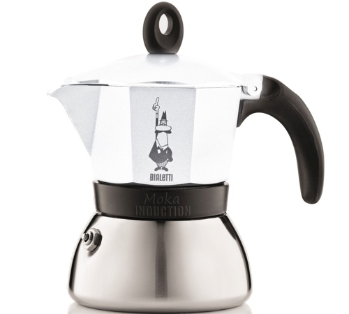 cafeti re italienne induction bialetti moka express blanche 3 tasses. Black Bedroom Furniture Sets. Home Design Ideas