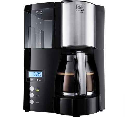cafeti re filtre programmable melitta optima timer noir. Black Bedroom Furniture Sets. Home Design Ideas