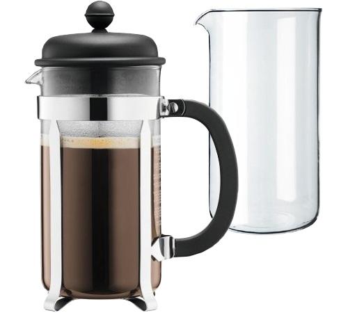 cafeti re piston bodum caffettiera 1 l et verre de rechange. Black Bedroom Furniture Sets. Home Design Ideas