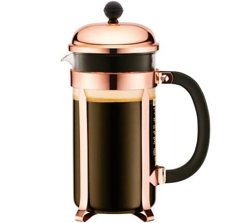 Cafeti re piston cuivr e chambord 1l bodum - Cafetiere a piston bodum ...