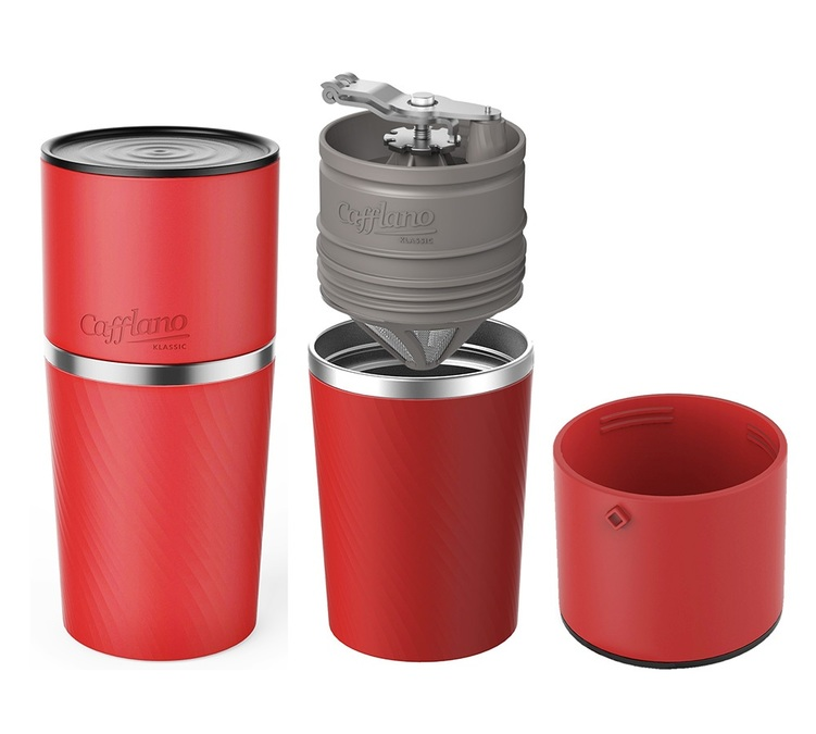 Red Portable Cafflano All In One Coffee Maker