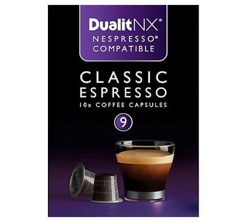 Capsules Nx Classic Espresso X10 Dualit Pour Nespresso