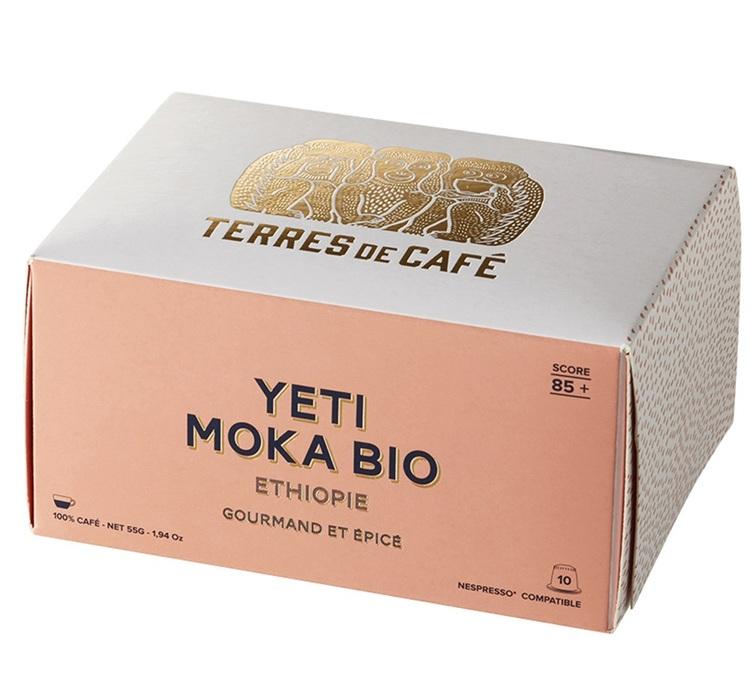 10 Yeti Moka Bio Ethiopia capsules by Terres de Café for