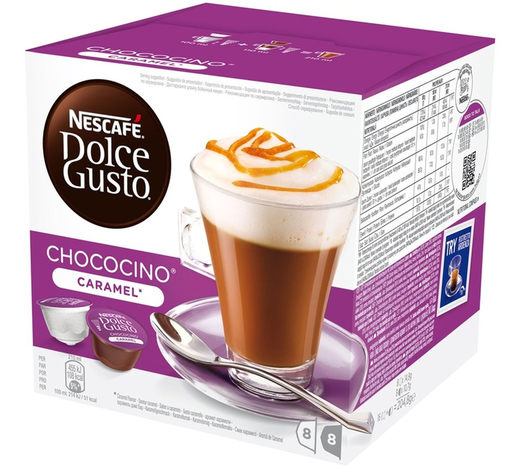 16 capsules nescafe dolce gusto chococino caramel. Black Bedroom Furniture Sets. Home Design Ideas