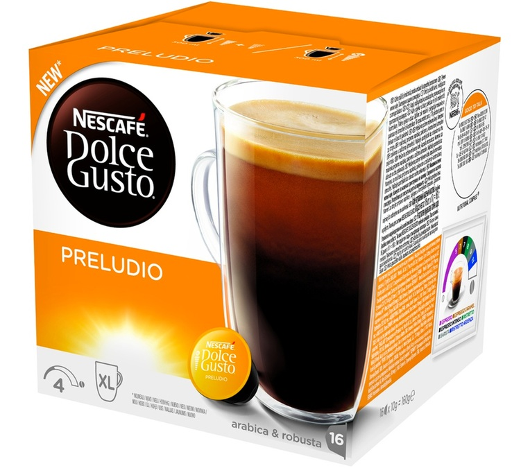 16 capsules nescafe dolce gusto preludio. Black Bedroom Furniture Sets. Home Design Ideas