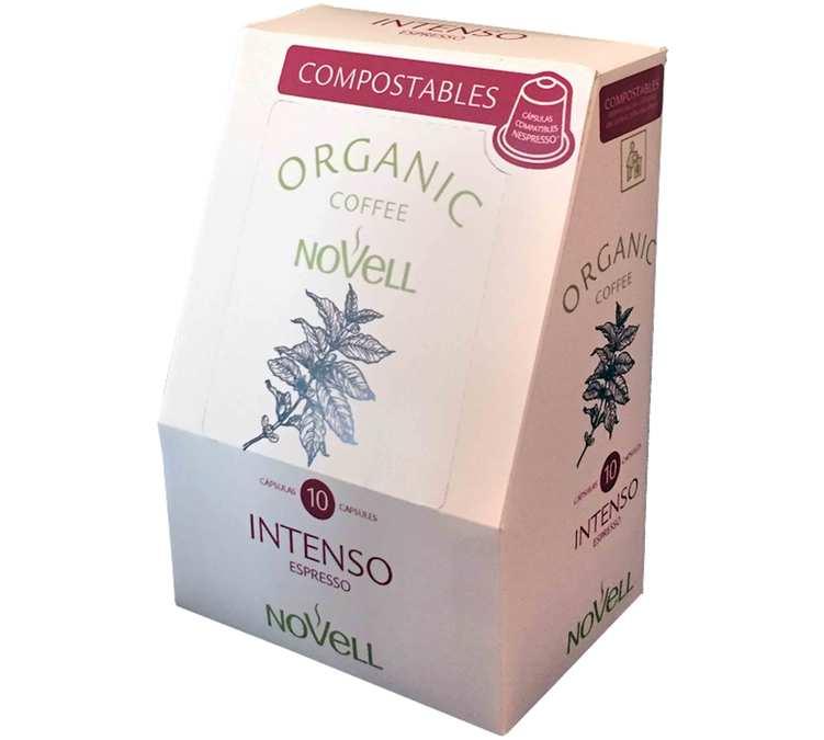 10 capsules Intenso compostables pour Nespresso Café Novell