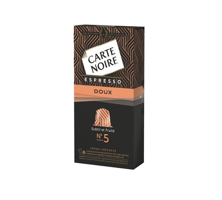 capsules compatibles nespresso carte noire n 5 doux. Black Bedroom Furniture Sets. Home Design Ideas
