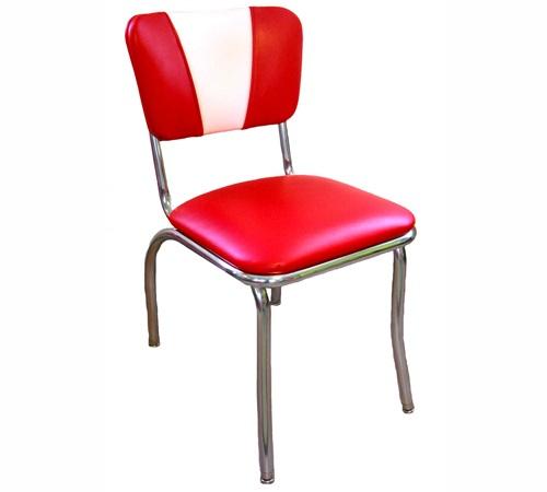chaise de diner vintage rouge blanc. Black Bedroom Furniture Sets. Home Design Ideas