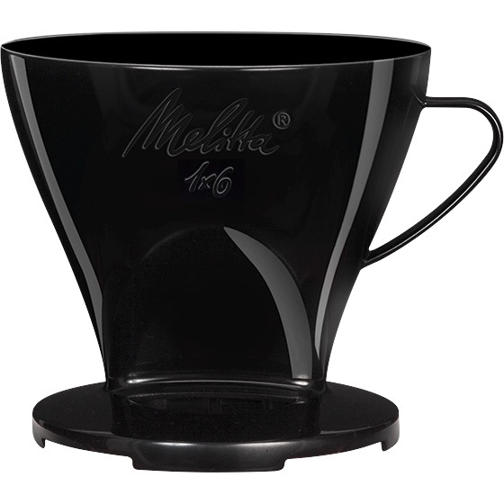 dripper melitta 1x6 plastique noir. Black Bedroom Furniture Sets. Home Design Ideas