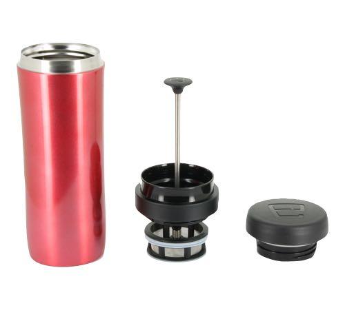 mug travel press rouge avec filtre th 35cl espro. Black Bedroom Furniture Sets. Home Design Ideas