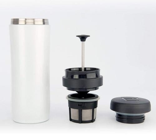 À Isotherme 35 Piston Press Blanc Mug Travel Cl Espro PkuZXi