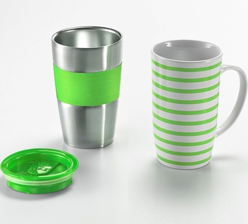 cafeti re filtre hoberg caf boxx verte mug isotherme. Black Bedroom Furniture Sets. Home Design Ideas