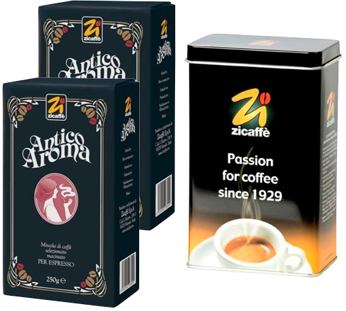 caf moulu antico aroma zicaff 2x250g boite herm tique. Black Bedroom Furniture Sets. Home Design Ideas
