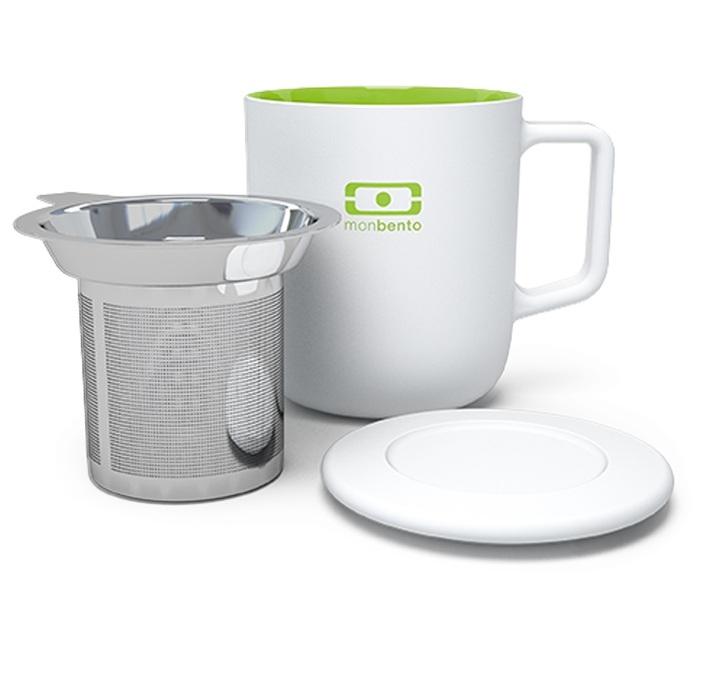 mug vert 35 cl en porcelaine infuseur couvercle monbento. Black Bedroom Furniture Sets. Home Design Ideas