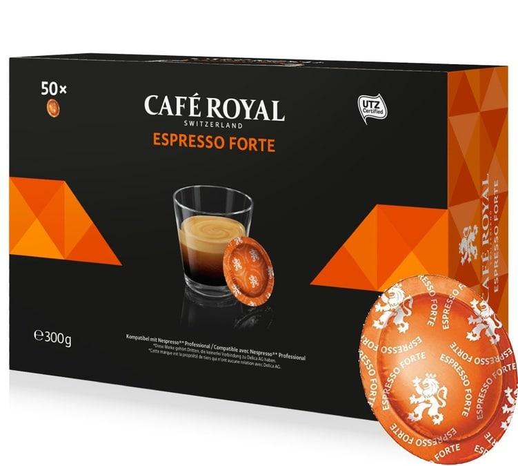 50 capsules nespresso pro expresso forte