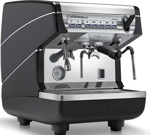 machine expresso nuova simonelli appia 1 groupe noire. Black Bedroom Furniture Sets. Home Design Ideas