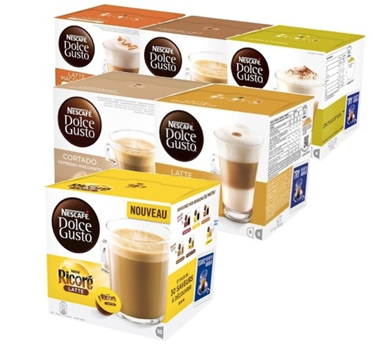 offre d couverte 96 capsules nescafe dolce gusto. Black Bedroom Furniture Sets. Home Design Ideas