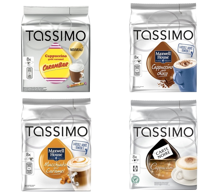 pack d couverte cappuccino tassimo 40 t discs. Black Bedroom Furniture Sets. Home Design Ideas