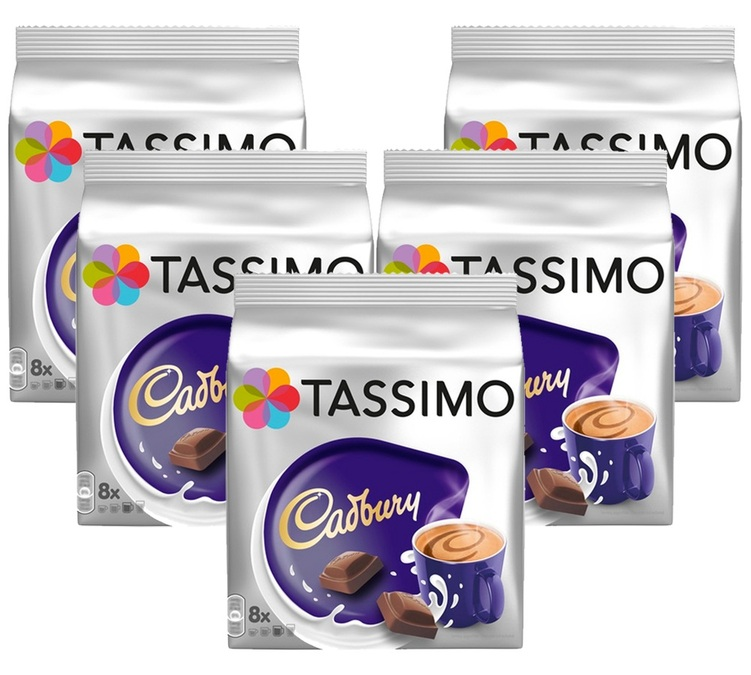 40 t discs dosettes cadbury chocolat tassimo. Black Bedroom Furniture Sets. Home Design Ideas