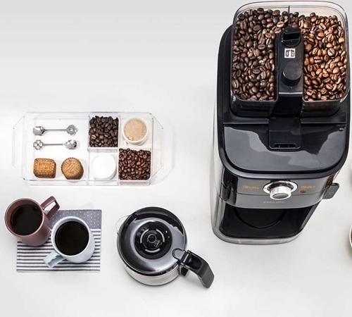 Cafeti re filtre avec broyeur philips hd7766 00 caf - Cafetiere expresso avec broyeur integre ...