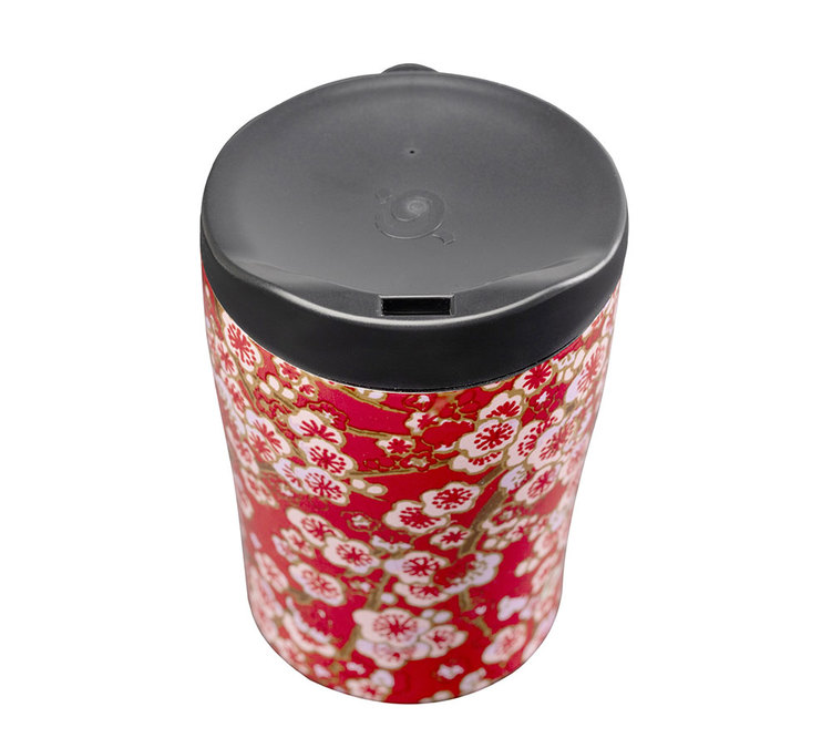 Flowers Qwetch Inox 240ml Mug Rouge Isotherme nmw0vN8