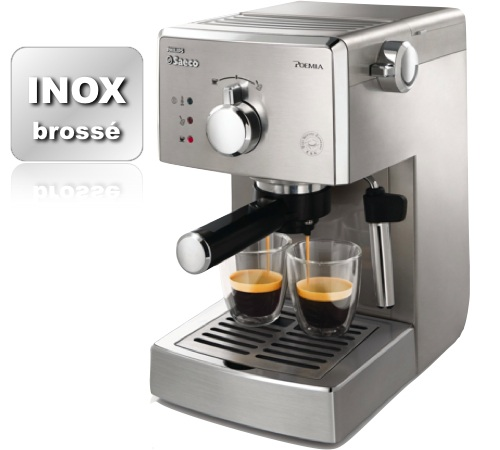 Machine expresso poemia manuel hd8327 01 tout inox philips saeco - Marque machine expresso ...