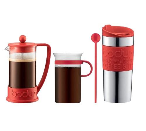 Verre Bodum Mug À Travel Brazil Avec Piston Et Cafetière Rouge pSGqVMUz