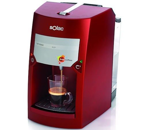 Machine expresso solac freecoffee rouge sp cial dosette ese - Marque machine expresso ...