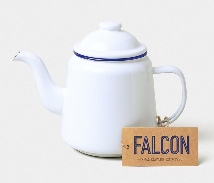 2 x Véritable Falcon Traditionnel Émail Tasse 1//2pt//0.28lt émail blanc