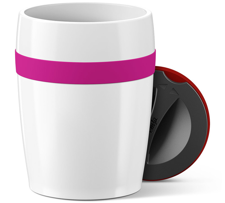 EMSA 'Travel Cup Ceramics' mug 200ml Pink