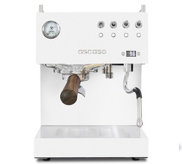 Machine expresso Ascaso Steel Duo PID Blanche et bois
