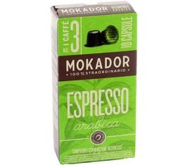 Capsules Arabica Mokador x10 pour Nespresso