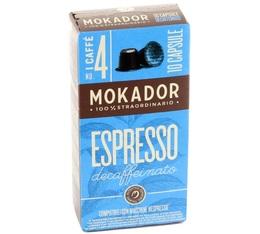 Capsules Decaffeinato Mokador x10 pour Nespresso