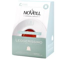 Capsules Leggerissimo x10 Novell pour Nespresso