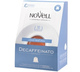 Capsules Decaffeinato x10 Novell pour Nespresso