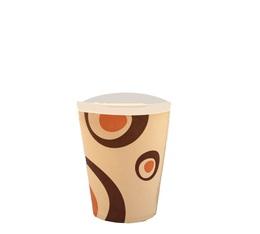 100 gobelets café carton couleur crème - 25 cl