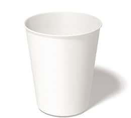 100 gobelets en carton blanc 25 cl