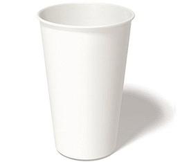 100 gobelets café carton blanc - 35 cl