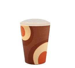 50 gobelets américains couleur  marron 35 cl