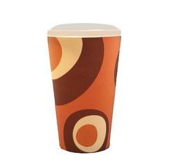 100 gobelets café carton couleur caramel - 50 cl