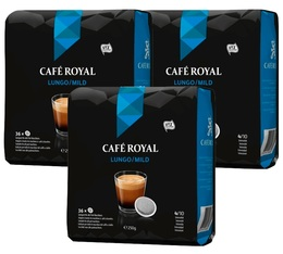 Lot de 108 Dosettes souples Lungo 3 x 36 - Café Royal