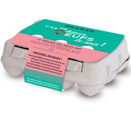 12 oeufs pralinés - Mix lait, blanc & lait/crêpe dentelle - Okakao