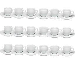 18 tasses expresso et sous-tasses porcelaine 5,5 cl Palermo - Ancap