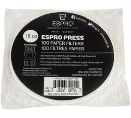 100 x paper filters discs for Espro P3 and P5 530 ml