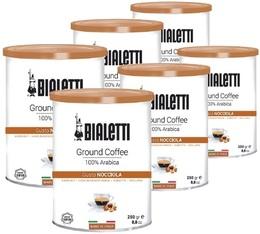 Café moulu aromatisé Noisette 100% Arabica - 6x250g - Bialetti