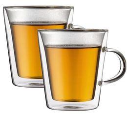 2 verres BODUM CANTEEN 20cl (avec anse)