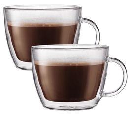 2 verres BODUM BISTRO Café latte 45cl (avec anse)