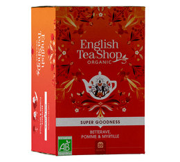 Infusion Bio Betterave, Pomme, Myrtille - 20 sachets - English Tea Shop